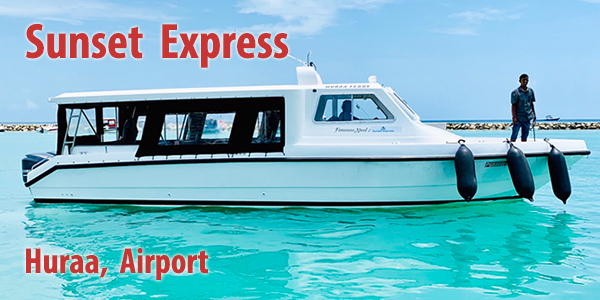 Sunset Express, Huraa, Airport